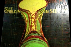 Walking inside myself - 150x150cm - Oil on canvas - 2007