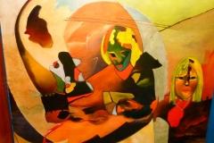 Seven faces - 150x120cm - Oil on canvas - 2000