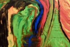 Paris by night - 80x70cm - Oil on canvas - 2015
