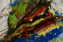 Chaos - 90x90cm - Oil on canvas - 2012