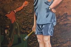 Cultural Barbarian - 100x150cm - Oil on canvas - 1998