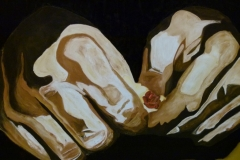 Crying hands - 120x100cm - Oil on canvas - 2004