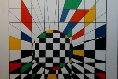 Composition of colours - 80x80cm - Oil on canvas - 2001