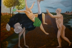 Le carneval mortel - 100x120cm - Oil on canvas - 2004